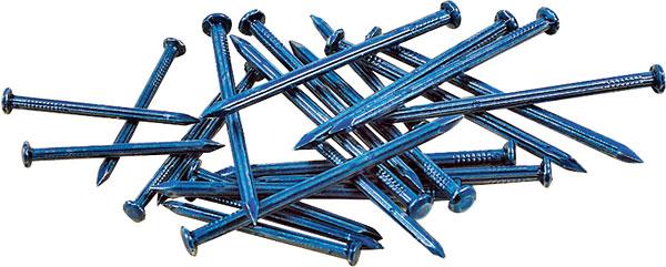 Vinyl coated concrete nails